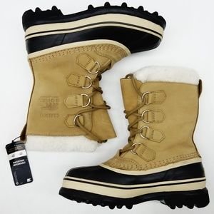 New Sorel Caribou Leather & Faux Fur Lace-Up Boots